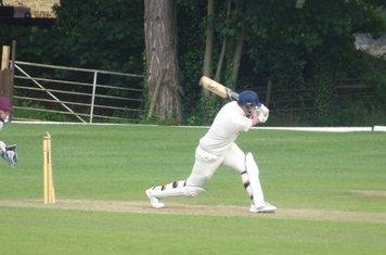 Ben York Batting for Geddington T20 XI V Finedon Dolben T20 XI At Burton Latimer Cricket Club. 9th June 2019.