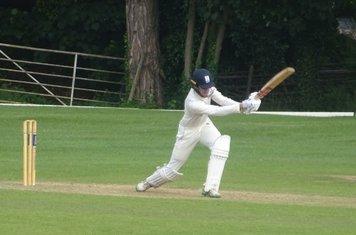 Ned Wilson Batting for Geddington T20 XI V Finedon Dolben T20 XI At Burton Latimer Cricket Club. 9th June 2019.