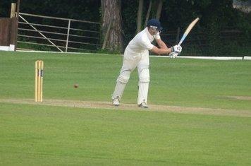 George Parker Batting for Geddington T20 XI V Finedon Dolben T20 XI At Burton Latimer Cricket Club. 9th June 2019.