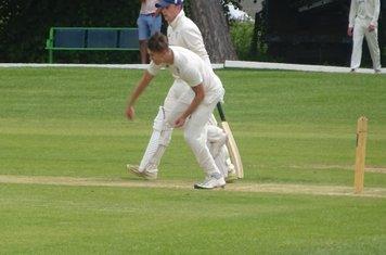 Harry Bolton Bowling for Geddington T20 XI V Burton Latimer T20 XI At Burton Latimer Cricket Club. 9th June 2019.