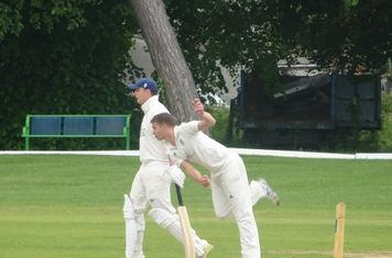 George Parker Bowling for Geddington T20 XI V Burton Latimer T20 XI At Burton Latimer Cricket Club. 9th June 2019.