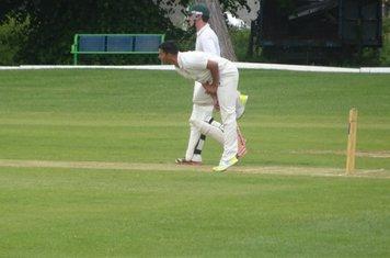 Adil Arif Bowling for Geddington T20 XI V Burton Latimer T20 XI At Burton Latimer Cricket Club. 9th June 2019.
