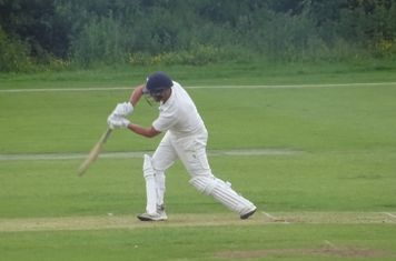 Andrew Reynoldson Batting for Geddington 1st XI V Wollaston 1st XI At Geddington Cricket Club. 15th June 2019.
