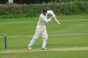 Bradley Armer Batting for Geddington 1st XI V Wollaston 1st XI At Geddington Cricket Club. 15th June 2019.