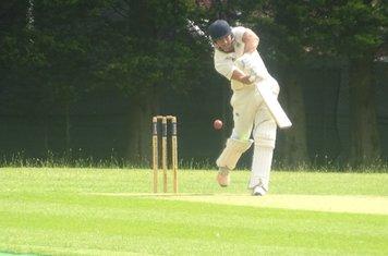 Bradley Armer Batting for Geddington 1st XI V Rushden & Higham Town 1st XI At Rushden Town Cricket Club. 22nd June 2019.