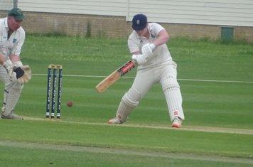 George York Batting for Geddington 2nd XI V Podington 1st XI At Geddington Cricket Club. 13th July 2019.