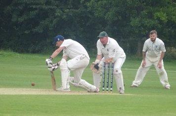 Colin Judd Batting for Geddington 2nd XI V Podington 1st XI At Geddington Cricket Club. 13th July 2019.
