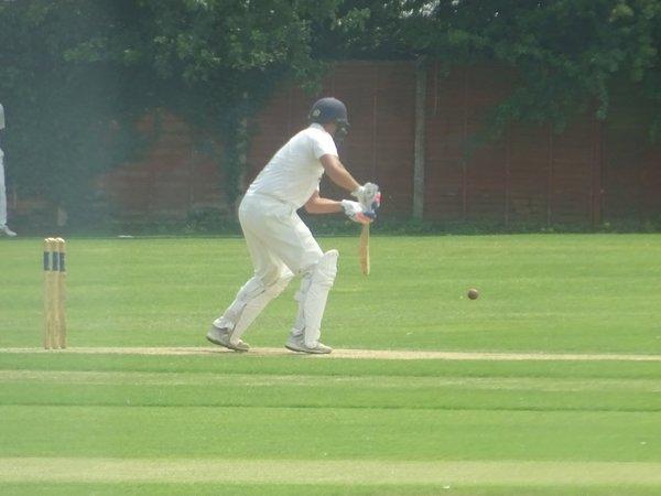 Andrew Reynoldson Batting for Geddington 1st XI V Northampton Saints 1st XI At Northampton Saints Cricket Club. 3rd August 2019.
