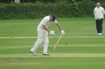 Jack Parker Batting for Geddington 1st XI V Peterborough Town 1st XI At Geddington Cricket Club. 10th August 2019.