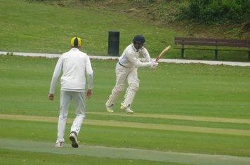 Adil Arif Batting for Geddington 1st XI V Finedon Dolben 1st XI At Finedon Dolben Cricket Club. 17th August 2019.