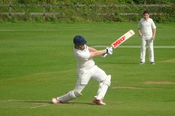 Ben McDade Batting for Geddington Sunday XI V Open University Sunday XI At Geddington Cricket Club. 18th August 2019.