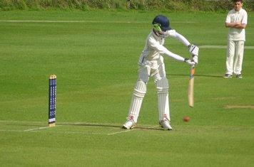 Henry Brandrick Batting for Geddington Sunday XI V Open University Sunday XI At Geddington Cricket Club. 18th August 2019.