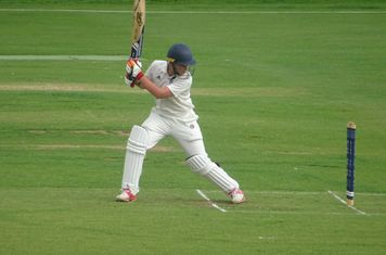 Lewis Skorupa Batting for Geddington Sunday XI V Open University Sunday XI At Geddington Cricket Club. 18th August 2019.