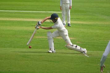 Joshua Knight Batting for Geddington Sunday XI V Open University Sunday XI At Geddington Cricket Club. 18th August 2019.