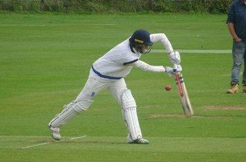 Ned Wilson Batting for Geddington Sunday XI V Open University Sunday XI At Geddington Cricket Club. 18th August 2019.