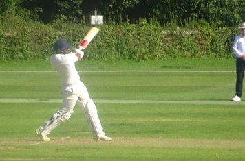 Adil Arif Batting for Geddington 1st XI V Brigstock 1st XI At Geddington Cricket Club. 24th August 2019.