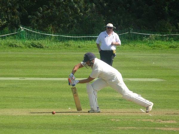 Andrew Reynoldson Batting for Geddington 1st XI V Brigstock 1st XI At Geddington Cricket Club. 24th August 2019.