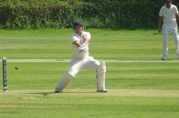 Bradley Armer Batting for Geddington 1st XI V Brigstock 1st XI At Geddington Cricket Club. 24th August 2019.