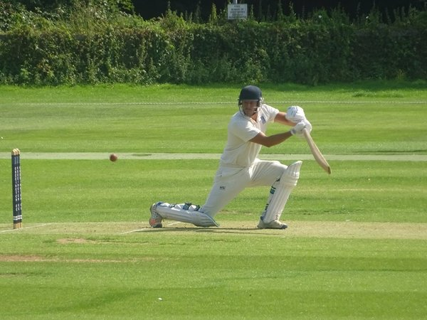 Bradley Armer Batting for Geddington 1st XI V Brigstock 1st XI At Geddington Cricket Club. 24th August 2019.