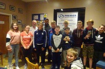 Geddington CC All Stars, Under-11's & 13's Presentation Evening 6th September 2019 Pictures At Geddington Cricket Club.