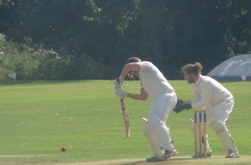 Patrick Harrington Batting for Geddington 1st XI V Oundle Town 1st XI At Oundle Town Cricket Club. 14th September 2019.