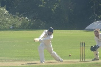 Ben Silver Batting for Geddington 1st XI V Oundle Town 1st XI At Oundle Town Cricket Club. 14th September 2019.