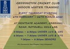 Geddington Cricket Club 2020 Indoor Winter Training
