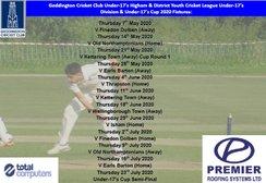 Geddington Cricket Club Under-17's 2020 Fixtures Released:
