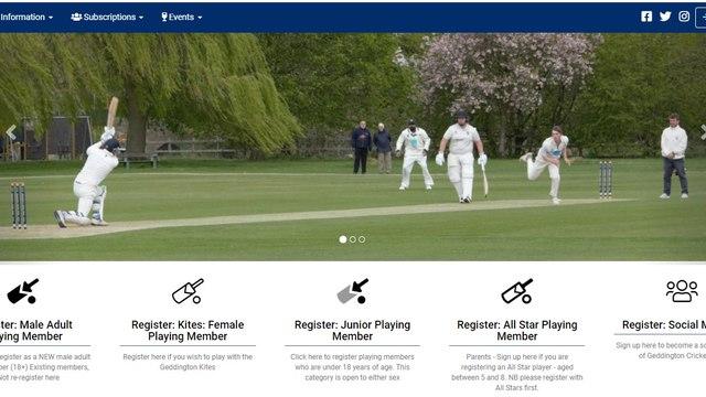 Register Today For Geddington Cricket Club Membership: