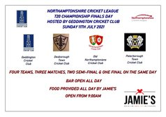 Northamptonshire Cricket League T20 Championship Finals Day - Hosted By Geddington CC: