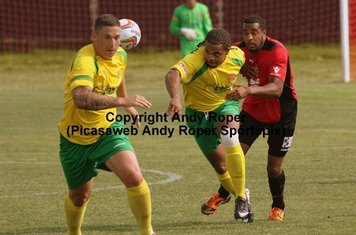 Ryan and Luke head for the Redditch goal.