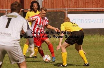 Ben sidesteps the Chesham defender.