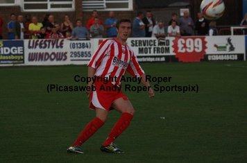 The ball heads towards Ben Billingham.