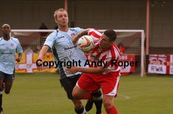 Ryan wins this tussle with Carl Pettefer.....