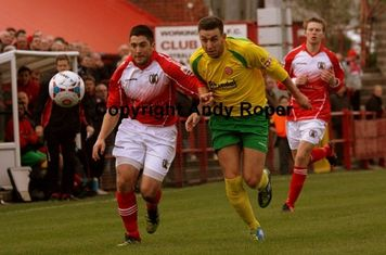 Drew chases down the ball.....