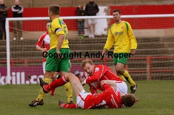 """(Geddes walks away) """"nothing to do with me ref....."""""""
