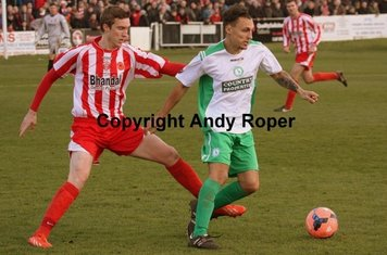 The Biggleswade number 11 turns the Stourbridge right back.....
