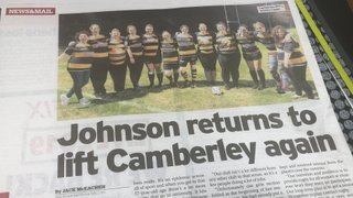 Johnson Returns to Lift Camberley Again