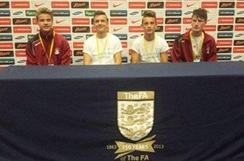 Boys in the Press Room