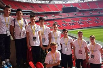 Boys in their SFAAFS T-ShirtsThanks to @paulRidleyLtd and @tradeNextSport for a great day
