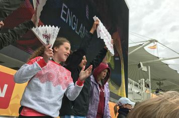 Celebrating an England win