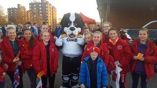 Girls attend England Women's  International Against Italy