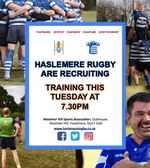 Haslemere Rugby is recruiting for Senior Players & Colts