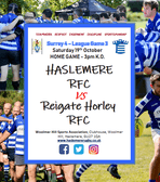 Haslemere 1XV next match against Reigate & Horley