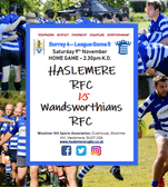 Feeling post-RWC blues ? Come and watch Haslemere