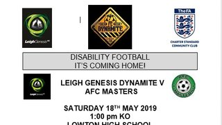 Dynamite are Ready to bring Disability Football Home...