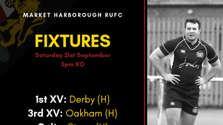 FIXTURES | Saturday 21st September