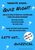 Quiz Night - Friday 1st March