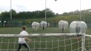 Bubble football end of season party June 2015