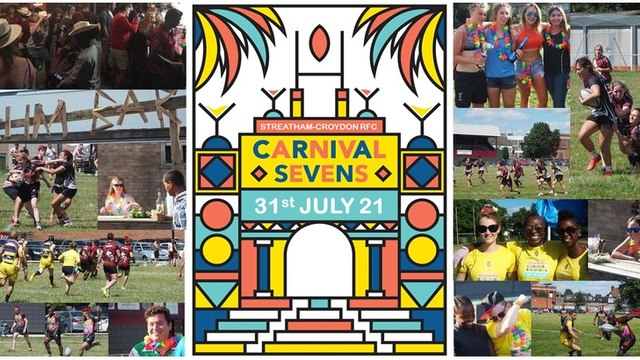 Streatham-Croydon RFC proudly presents the return of the Carnival 7s tournament this summer 31st July 2021.
